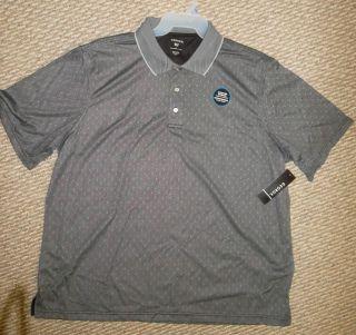 Mens Womens Polo Shirt Golf Gray George 2X XXL 50 52 Moisture Wicking