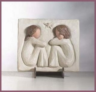 Willow Tree Angels Friendship Plaque Stand
