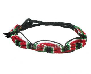 Palestine Flag Friendship Bracelet Nylon Wristband Jerusalem Arab