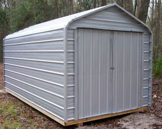 8x12 Shed Outdoor Storage Unit Utility Workshop Mini Barn Garage New