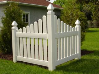 White Vinyl PVC Corner Picket Fence Beautify Your Yard Easily with
