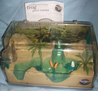 Discovery Kids FROG Tadpole POND HABITAT Plastic Aquarium New W