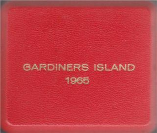 1965 Gardiners Island 3 Trial Pattern Coin Set w Box