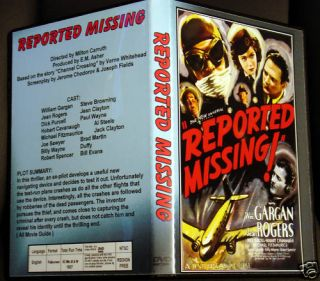 Reported Missing DVD William Gargan Jean Rogers