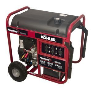 Powermate 8000 Watt Generator w Kohler Engine Wheel Kit PM0418000