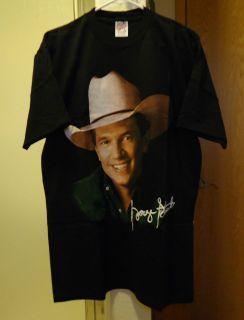 George Strait Brand New Vintage 90s Concert Tour Black Tee T Shirt
