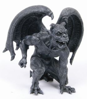 Short Horned Gargoyle Statue Home Collection Figurine Decoration
