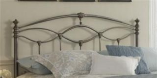 King Size Genoa Bed w Frame Frosted Silver Finish