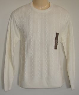 Geoffrey Beene Acrylic Light Beige Traditional Crew Neck Extra Soft