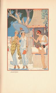 GEORGE BARBIER original 1928 vintage lithograph GREECE GREAT