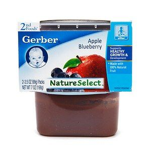 Gerber 2nd Foods NatureSelect Baby Food, Apple Blueberry 7 oz (198 g)