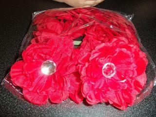 NEW wholesale lot 12 gerbera daisy FLOWER peony CRAFT wedding HAIR