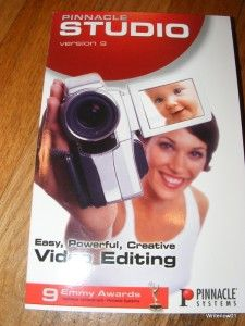 Pinnacle Studio version 9 video editing software w/ user guide