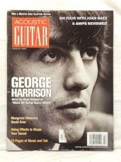 Acoustic Guitar Magazine George Harrison David Grier Joan Baez Eric