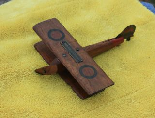 Omaha Reed Rattan Co Advertising Wood Toy Airplane George E Yeager