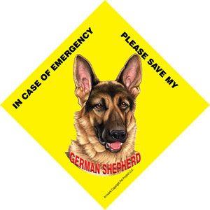 German Shepherd Emergency Rescue Sign