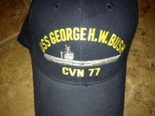 USS George H W Bush CVN 77 Ballcap US Navy USS George HW Bush CVN Ball