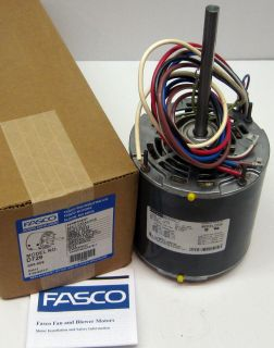 Fasco 3 4 HP 1075 rpm 208 230 v 3 Speed Furnace Blower Fan Motor w Cap