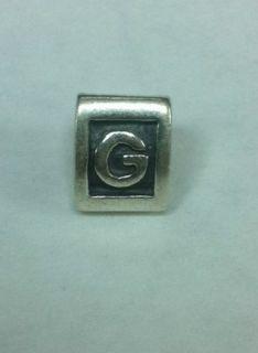 Pandora Sterling Silver Letter G Bead 790323 G