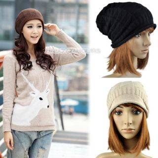 New Hot Fashion Unisex Wool Winter Crochet Knit Beanie Skullcap Hat