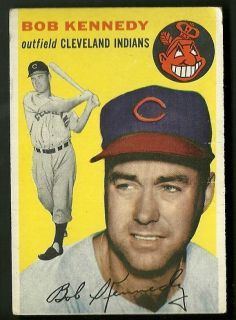 Bob Kennedy Cleveland Indians 1954 Topps Card 155