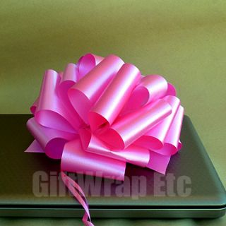 PINK 8 PULL BOWS BREAST CANCER AWARENESS FUNDRAISING GIFT BASKETS