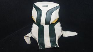 GIII GREEN WHITE BASS PONTOON BOAT SEAT COVER CUSHIONS K I 34