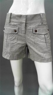 Georgie Hollis Ladies Womens 8 Khaki Shorts White Striped Designer