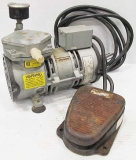 GAST MODEL MOA V138 AA VACUUM PUMP + FOOT SWITCH