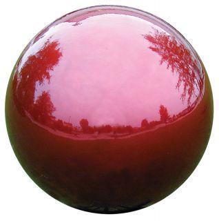 Gazing Ball Garden Decor VCS 12 Mirror Ball Red Gazing Globe