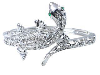 iguana reptile lizard gecko crystal bangle bracelet item s0142