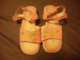GEENA BRAND SIZE 4 GIRLS PINK SHOES SANDALS SUPER CUTE CASUAL OR