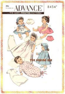 8454 Betsy Wetsy Ginette Doll Wardrobe Pattern 10