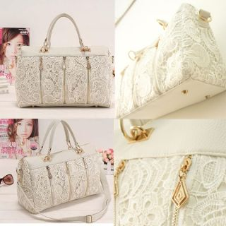 Sexy Ladies Women Retro Lace Clutch Shoulder Purse Handbag Tote Bag