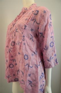 Sundance Catalog CP Shades Wisteria Print Rose Tunic 70 Off Retail