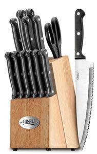 New Ginsu 14pc Cooking Kitchen Cutting Steak Sharp Knife Knive Set w