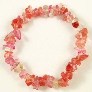 Gemstone Crystal Chip Beaded Stretch Bracelets
