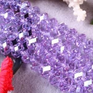 146pc 4mm Purple Swarovski Crystal Gemstone Loose Beads
