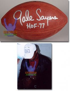 Gale Sayers Bears Auto Official NFL Game Football GA