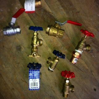 Gas Propane Ball Valve Brass Fosets Pluming 1 2 inch Boiler Drain Lot