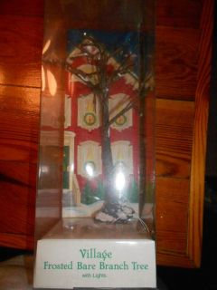 DEPT 56 GENERAL VILLAGE ACCESSORIES FROSTED BARE BRANCH TREE WITH
