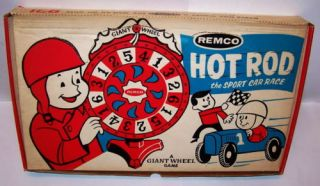 Giant Wheel Game Hot Rod Sports Car Race Remco 1967