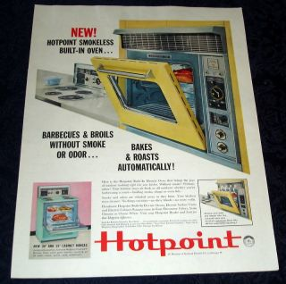 1960 Hotpoint Electric Oven Original Ad