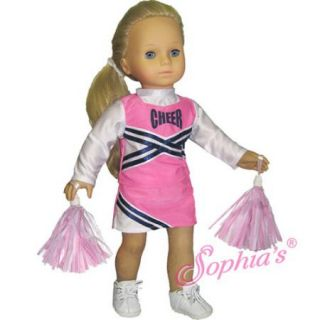 Cheerleader Outfit Shoes Set Fits American Girl Doll