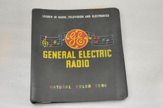 General Electric Radio 3 Ring Binder w Tube Guide