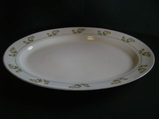 Noritake Nippon Hand Painted Ceramic Oval Serving Plate Tray Large 16
