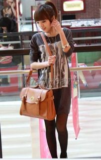 QM Womens Messenger School Bag Cross Body Shoulder Handbag 2color
