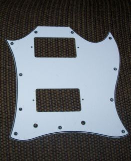White Full Face Pickguard for Gibson SG Parts Project