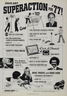 1977 Ad Ohio Art Toys Etch A Sketch Walker Family Farm   ORIGINAL