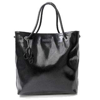 100 Authentic New Gucci Gifford Medium Black Patent Leather Tote Bag